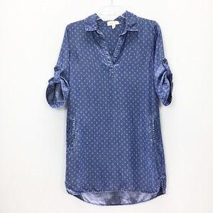 Anthropologie Cloth & Stone Chambray Shirt Dress
